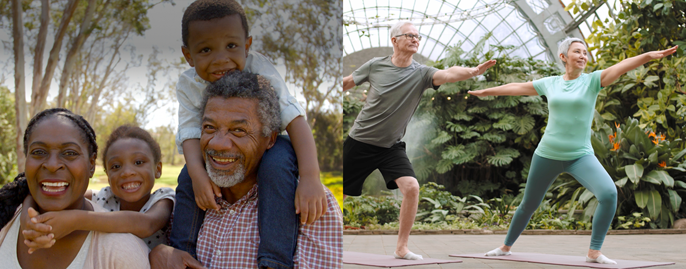 Images of Family and Active Seniors
